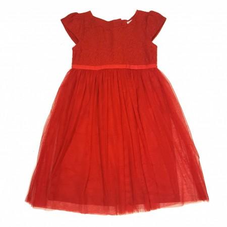 ec971854 World of kids, kjole med blonder og tyll rød - Engler og pirater